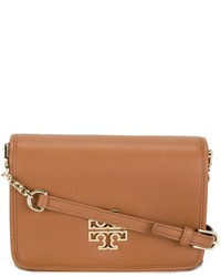Sac bandoulière en cuir tabac Tory Burch