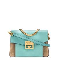 Sac bandoulière en cuir turquoise Givenchy