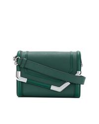 Sac bandoulière en cuir vert foncé Karl Lagerfeld