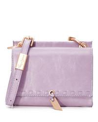 Sac bandoulière en cuir violet clair Foley + Corinna