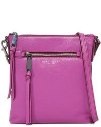 Sac bandoulière en cuir violet clair Marc Jacobs