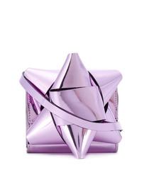 Sac bandoulière en cuir violet clair MM6 MAISON MARGIELA