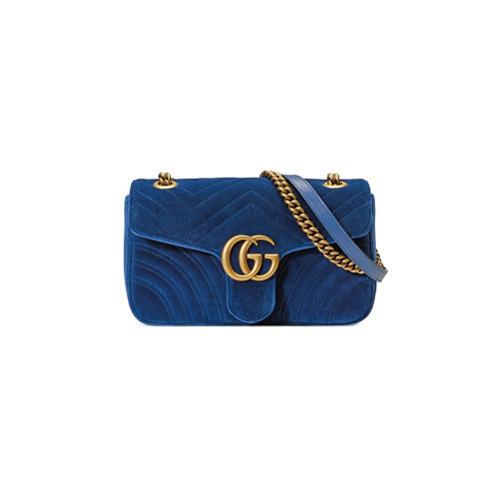 d5b1f3ab1d Sac bandoulière en daim bleu marine Gucci, €1,490 | farfetch.com ...