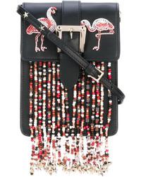 Sac bandoulière orné de perles noir RED Valentino