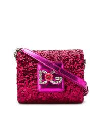 Sac bandoulière orné fuchsia Dolce & Gabbana