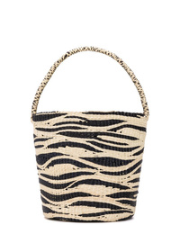 Sac bourse de paille marron clair SENSI STUDIO