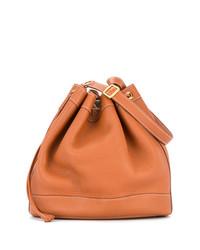 Sac bourse en cuir brun clair Hermès Vintage