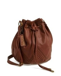 Sac bourse en cuir marron