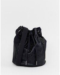 Sac bourse en cuir noir Juicy Couture