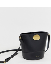 Sac bourse en cuir noir Kurt Geiger London