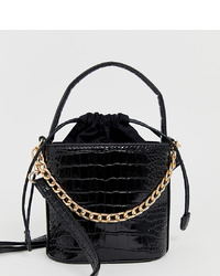 Sac bourse en cuir noir My Accessories