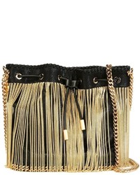Sac bourse en cuir noir Stella McCartney