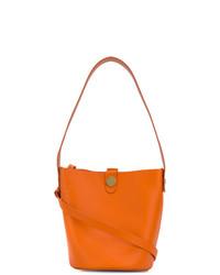 Sac bourse en cuir orange Sophie Hulme