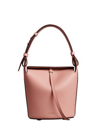 Sac bourse en cuir rose Burberry