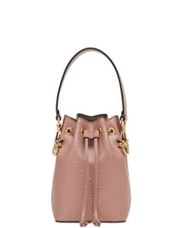 Sac bourse en cuir rose Fendi