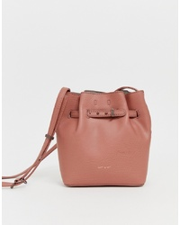 Sac bourse en cuir rose Matt & Nat
