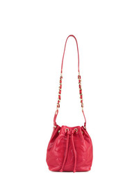 Sac bourse en cuir rouge Chanel Vintage