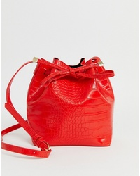 Sac bourse en cuir rouge Pieces