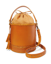 Sac bourse en cuir tabac Ulla Johnson