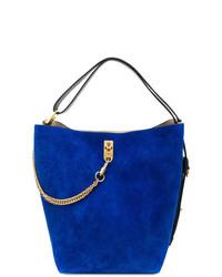 Sac bourse en daim bleu Givenchy