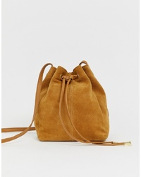 Sac bourse en daim marron clair ASOS DESIGN