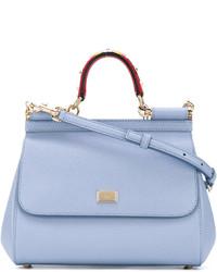 Sac en cuir bleu clair Dolce & Gabbana