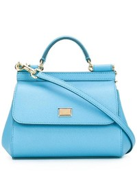 Sac fourre-tout bleu clair Dolce & Gabbana