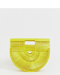 Sac fourre-tout de paille jaune South Beach