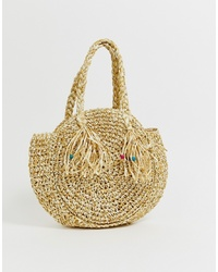Sac fourre-tout de paille marron clair South Beach