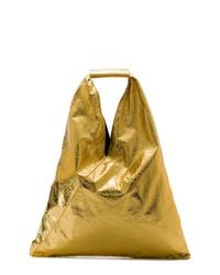 Sac fourre-tout en cuir doré MM6 MAISON MARGIELA