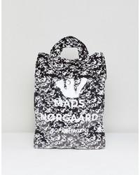Sac fourre-tout en cuir imprimé noir et blanc Mads Norgaard