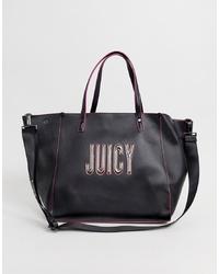 Sac fourre-tout en cuir imprimé noir Juicy Couture