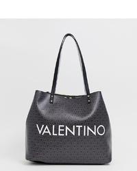 Sac fourre-tout en cuir imprimé noir Valentino by Mario Valentino