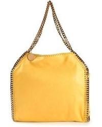 Sac fourre-tout en cuir jaune Stella McCartney
