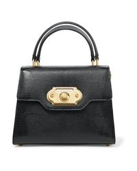 Sac fourre-tout en cuir noir Dolce & Gabbana