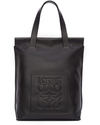 Sac fourre-tout en cuir noir Loewe
