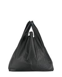 Sac fourre-tout en cuir noir MM6 MAISON MARGIELA