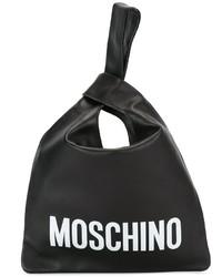 Sac fourre-tout en cuir noir Moschino