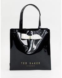 Sac fourre-tout en cuir noir Ted Baker