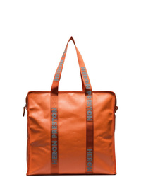 Sac fourre-tout en cuir orange Heron Preston