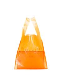 Sac fourre-tout en cuir orange Maison Margiela