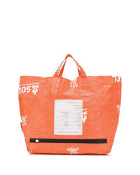 Sac fourre-tout en cuir orange Takahiromiyashita The Soloist