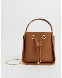 Sac fourre-tout en cuir tabac Forever New