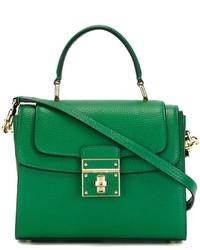 Sac fourre-tout en cuir vert Dolce & Gabbana
