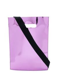 Sac fourre-tout en cuir violet clair MM6 MAISON MARGIELA