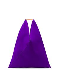 Sac fourre-tout en cuir violet MM6 MAISON MARGIELA