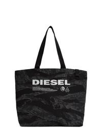 Sac fourre-tout en denim camouflage noir Diesel