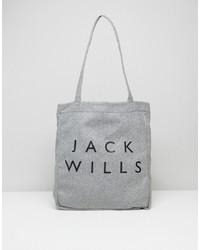 Sac fourre-tout en laine gris Jack Wills