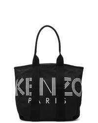 Sac fourre-tout en nylon noir Kenzo