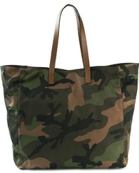 Sac fourre-tout en toile camouflage olive